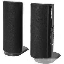 Defender 65210 SPK-210 Активная акустическая система 2.0, 2x2 Вт, 220В, разъем для наушников