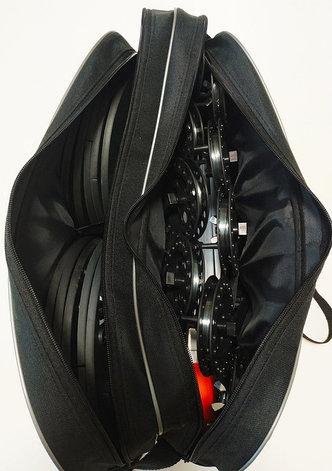 Набор жерлиц RodStars в сумке 10шт, алюминиевая стойка, катушка 90 мм., фото 2