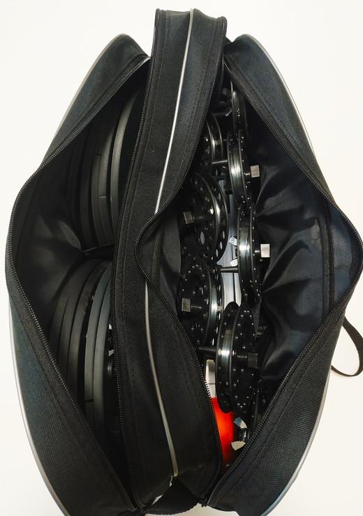 Набор жерлиц RodStars в сумке 10шт, алюминиевая стойка, катушка 90 мм. - фото 1