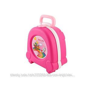 Портативный складной детский горшок-чемоданчик( розовый)