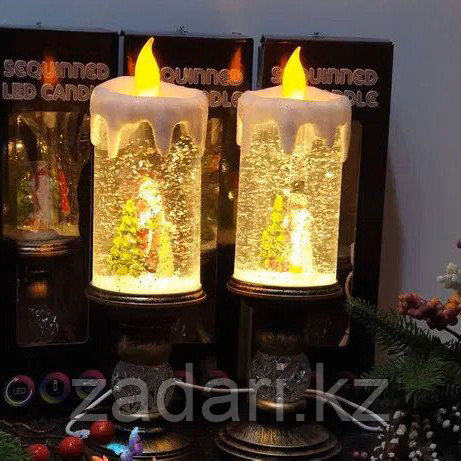 Новогодний ночник «Свеча c Дед Морозом»