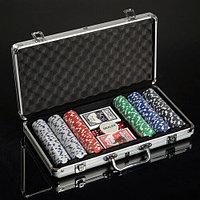 Набор для покера «Professional Poker» 300 фишек в кейсе, фото 1
