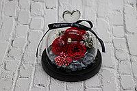 Розы в колбе, живая роза в колбе 13cm*13cm