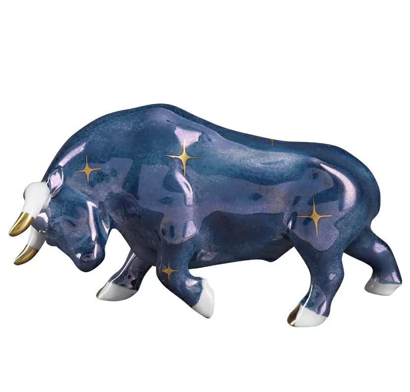 Статуэтка Бык Синий Со Звездами