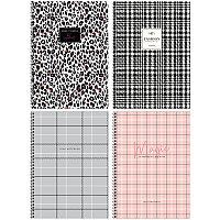 Тетрадь 80л 4 клетка на гребне ArtSpace Узор Fashion pattent глянц лам тверд обложка Тт4