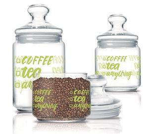 Набор банок для хранения продуктов Luminarc Coffee Tea 3 шт.