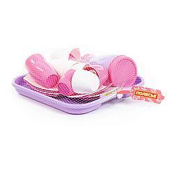 """Набор детской посуды """"Алиса"""" с подносом на 4 персоны (Pretty Pink)"""