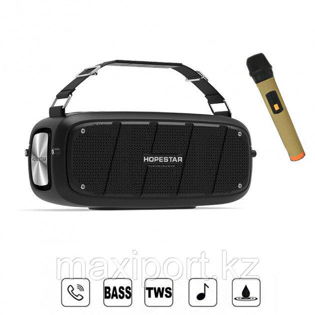 Портативная колонка Hopestar A20 Pro  Black (в комплекте беспроводной микрофон для караоке).