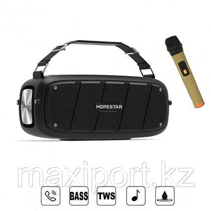 Портативная колонка Hopestar A20 Pro  Black (в комплекте беспроводной микрофон для караоке)., фото 2