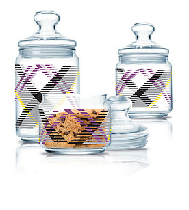 Набор банок для хранения продуктов Luminarc Scottish White 3 шт.
