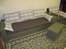 Комплект диван, кресло и пуфик