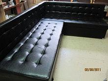 Угловой большой диван, кож.зам