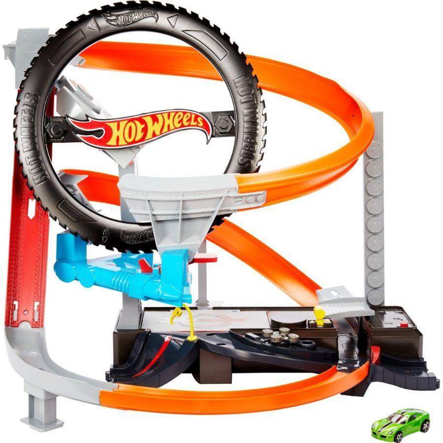 """Игровой набор Hot Wheels Набор """"Город: Шиномонтажная мастерская"""", Хот Вилс (звук)"""