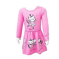 Розовая платье для Девочек из хлопка