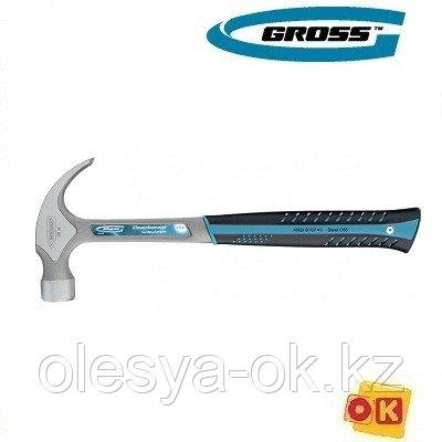 Молоток-гвоздодер 450 г, цельнокованый, GROSS 10469