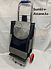 Сумка-тележка для продуктов на колесах. Высота 98 см, ширина 35 см, глубина 25 см.