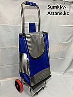 Продуктовая сумка-тележка на 2-х колесах,складывается.Высота 98 см, ширина 35 см, глубина 25 см., фото 1