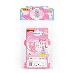 Кроватка-качалка сборная для кукол №2 (7 элементов) (в пакете)