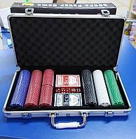 Покерный набор в металлическом кейсе на 300 фишек
