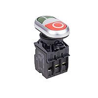 Кнопка пуск-стоп, ANDELI, LA32HND, (зелёная-красная) с подсветкой, состоит из 3-х частей