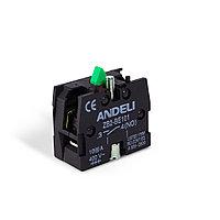 Блок доп. контактов для кнопок, ANDELI, ZB-BE101 NO