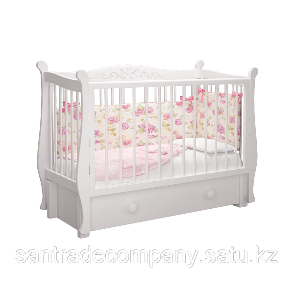Детская кровать Джулия  Пу ,(слоновая кость)