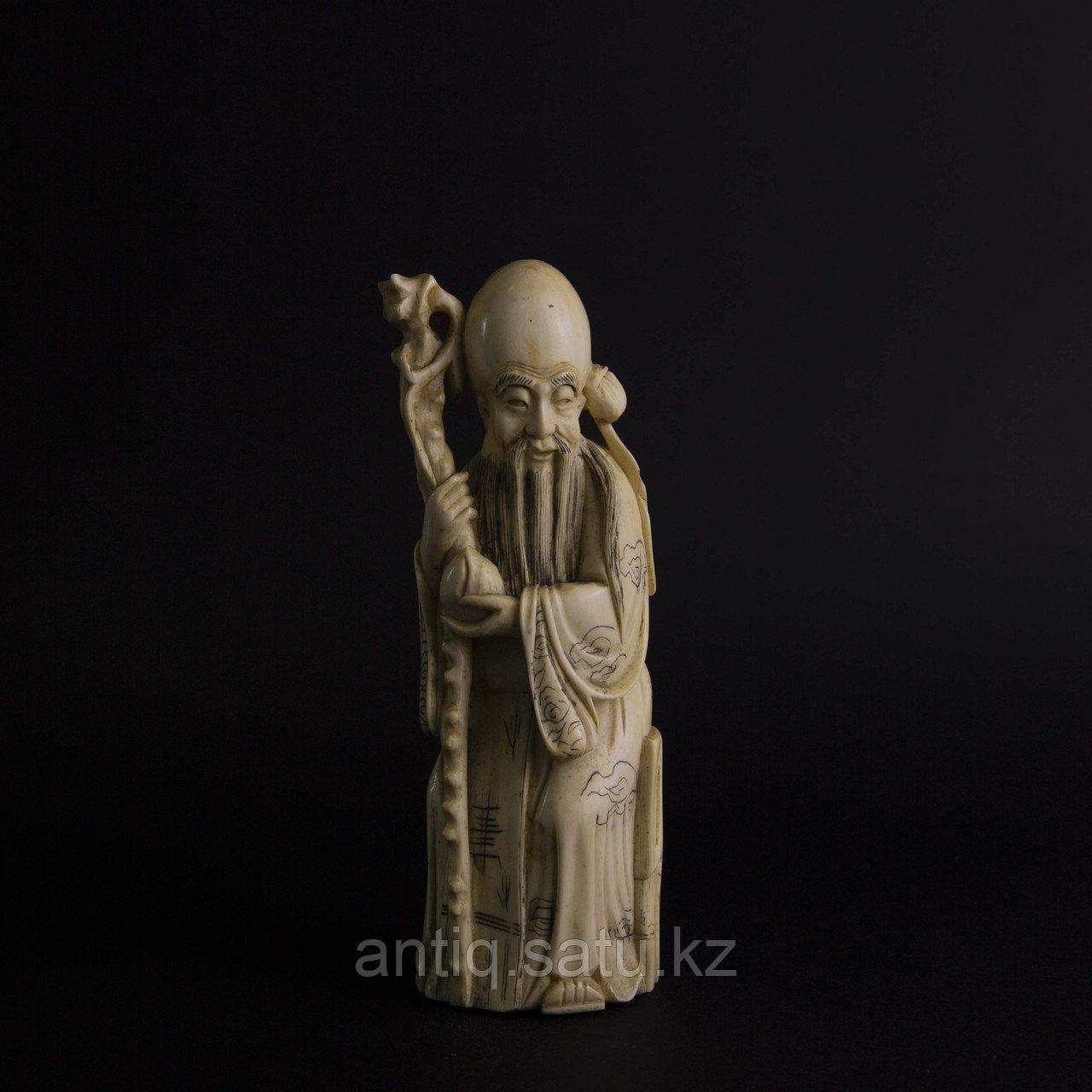 Окимоно Шоу-син (Шу, Сау) один из трех звездный старцев. Бог долголетие. - фото 1
