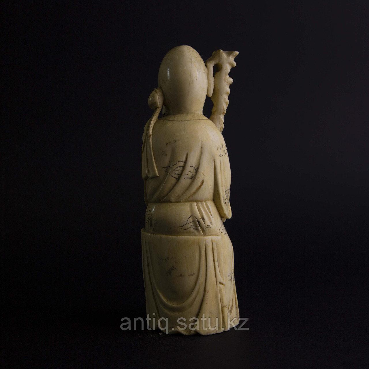 Окимоно Шоу-син (Шу, Сау) один из трех звездный старцев. Бог долголетие. - фото 3