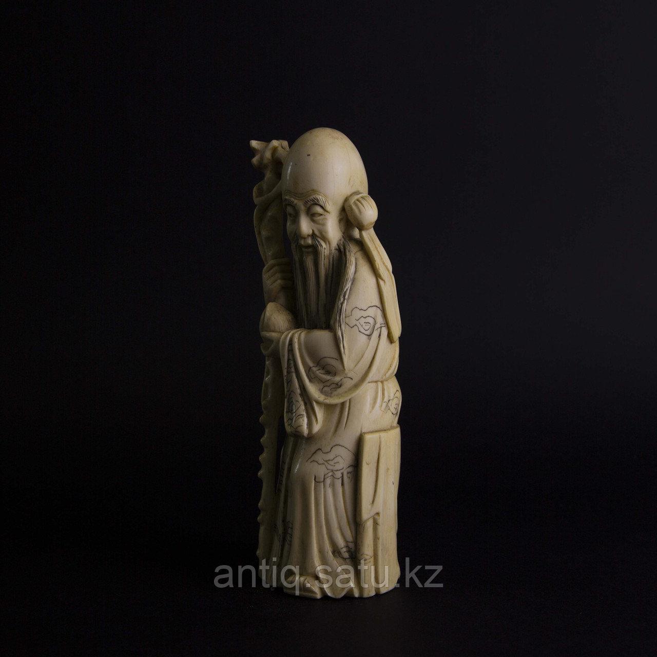 Окимоно Шоу-син (Шу, Сау) один из трех звездный старцев. Бог долголетие. - фото 5