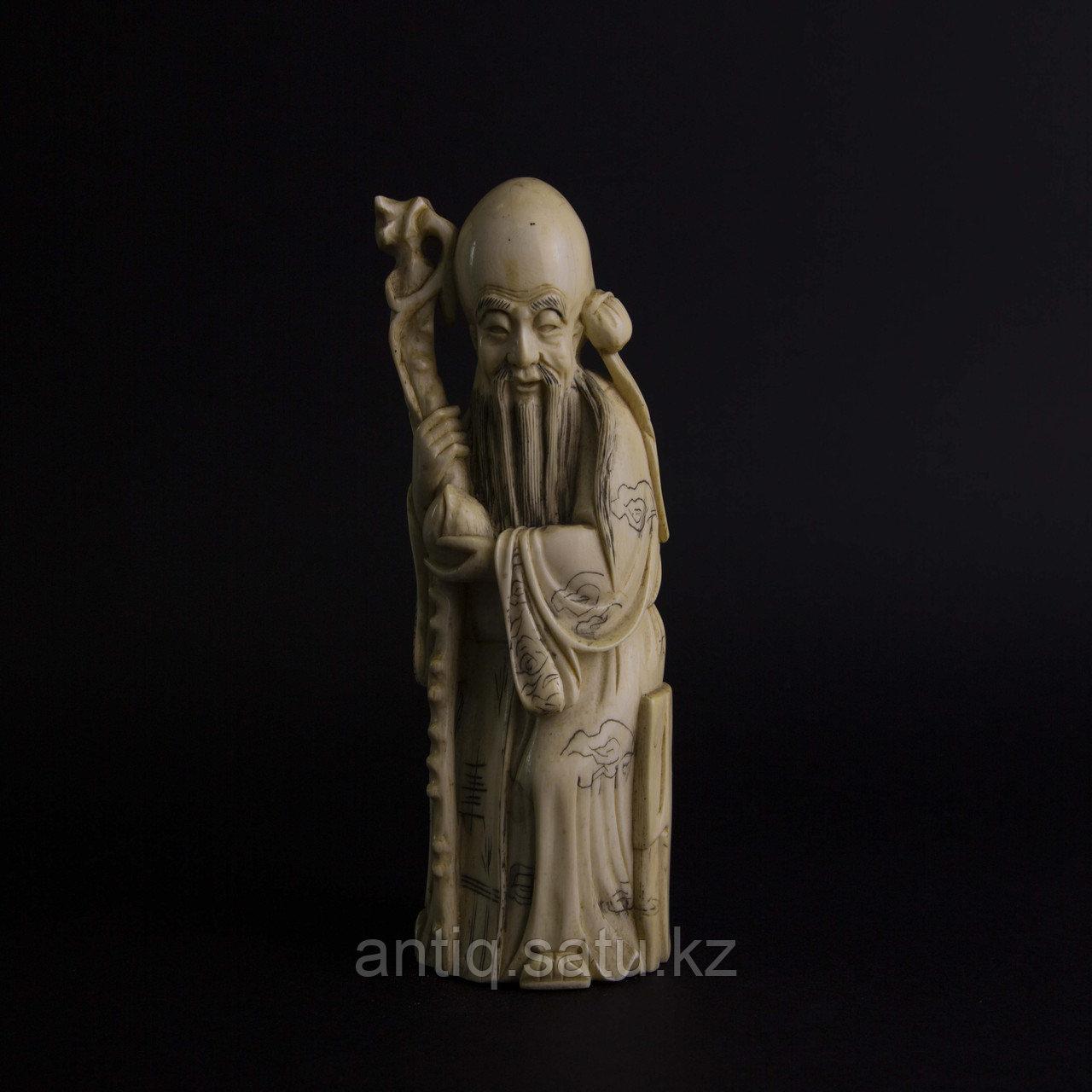 Окимоно Шоу-син (Шу, Сау) один из трех звездный старцев. Бог долголетие. - фото 2