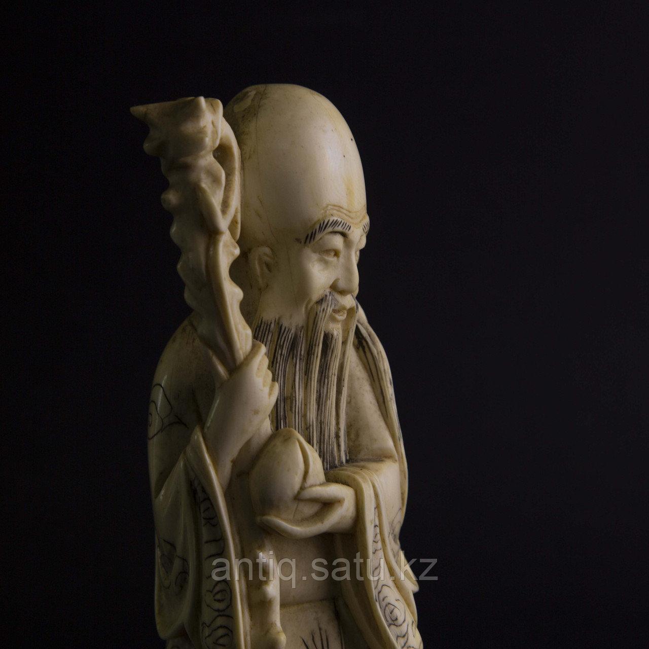 Окимоно Шоу-син (Шу, Сау) один из трех звездный старцев. Бог долголетие. - фото 6