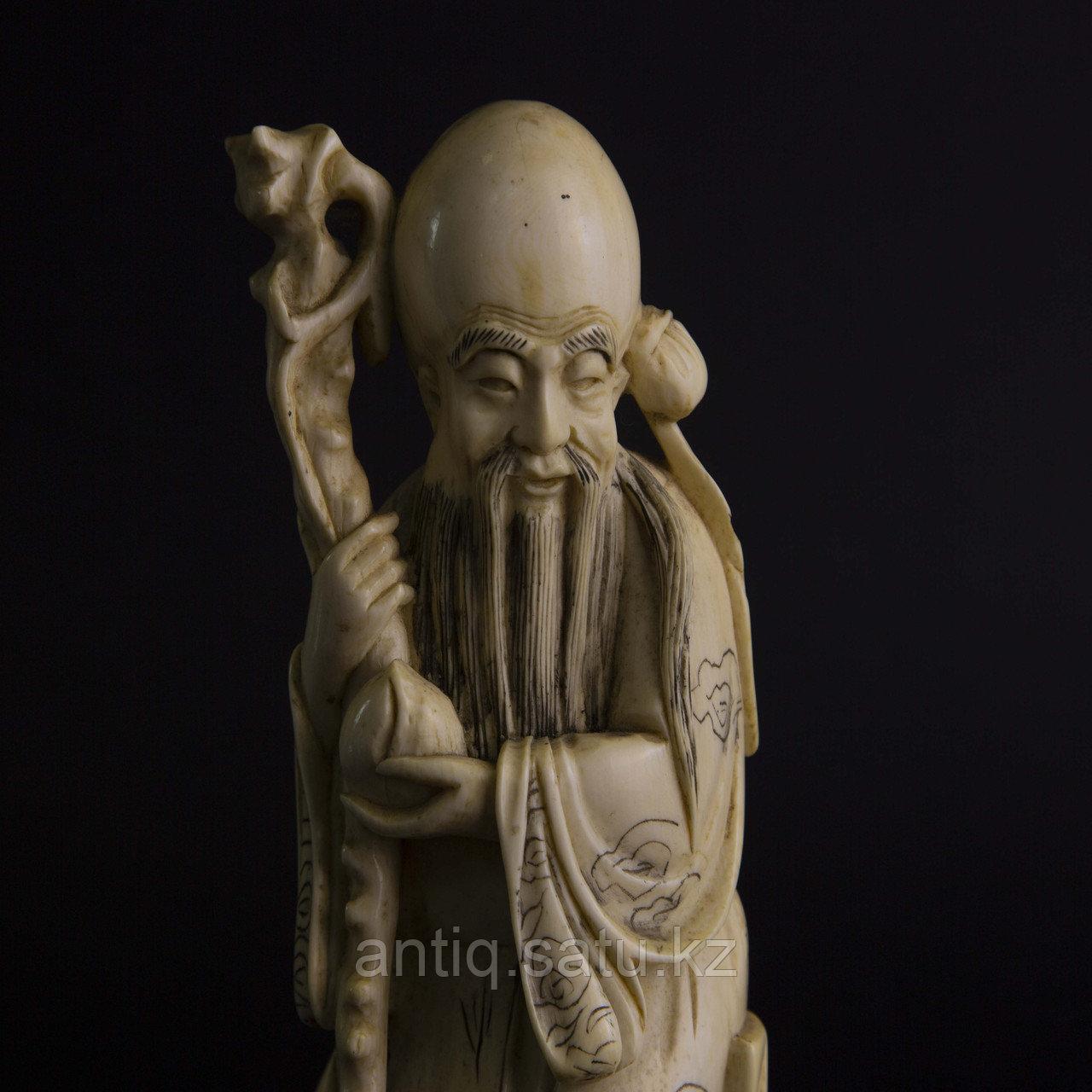 Окимоно Шоу-син (Шу, Сау) один из трех звездный старцев. Бог долголетие. - фото 7