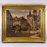 Вид на Ротенбург-од-Таубер» Hugo Spindler (XIX-XX) Германия