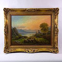 «Пейзаж с видом на замок»» RUDOLF ALERS (1812-1850 )