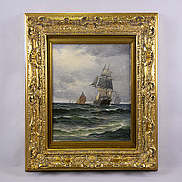 Парусник в море» Victor Vilhelm Bille(1864-1908) Дания