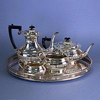 Чайно-кофейный сервиз. Великобритания, Шеффилд. I половина ХХ века
