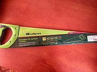 "Ножовка по дереву ""Зубец"", калёный зуб, 2-х компонентная рукоятка, 500 мм, 7-8 TPI, зуб 2D/ СИБРТЕХ"