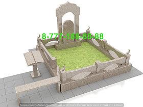 Благоустройство мусульманкой могилы, фото 3