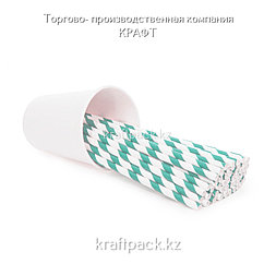 """Трубочки бумажные МЯТНЫЙ """"ЛЕДЕНЕЦ"""" 6*200мм (250/5000)"""