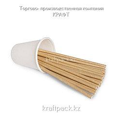 Трубочки бумажные КРАФТ 6*200мм (250/5000)