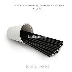 Трубочки бумажные ЧЕРНЫЕ 6*200мм (250/5000)