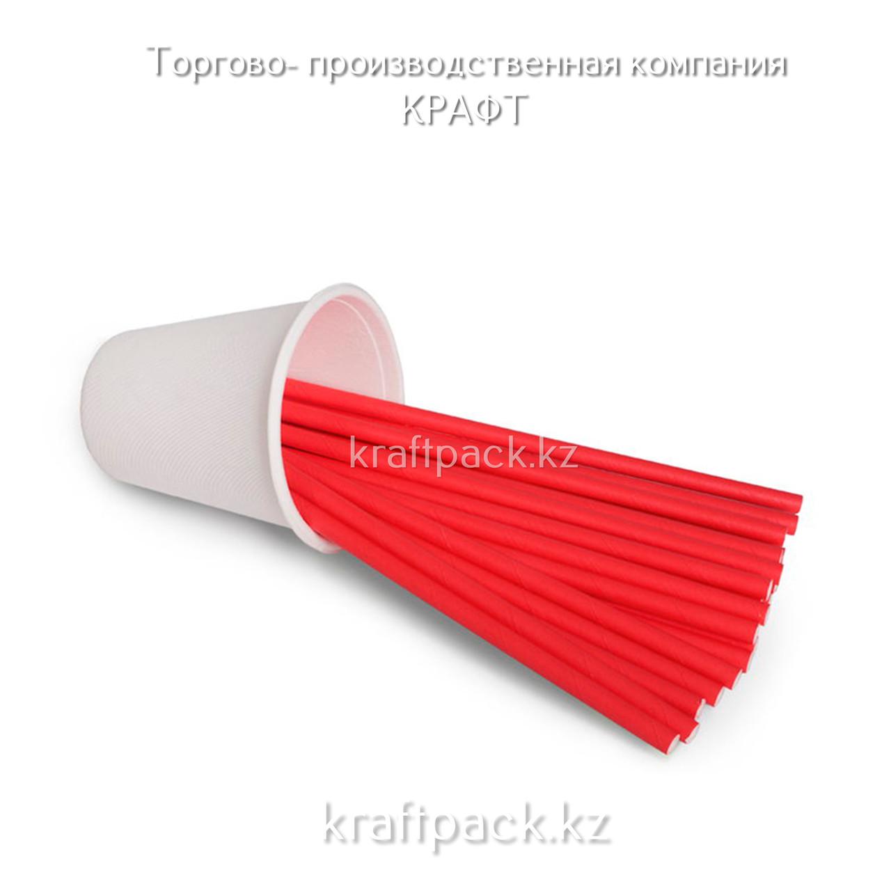 Трубочки бумажные КРАСНЫЕ 6*200мм (250/5000)