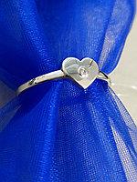 """Кольцо """" Сердце"""" с бриллиантом/ размер 18,5"""