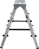 Стремянка двухсторонняя алюминиевая NV200,  2 ступени, фото 3