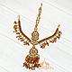 Тика - индийское украшение на голову, Золотистая со стразами, фото 4