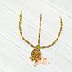 Тика - индийское украшение на голову, Золотистая со стразами, фото 3
