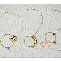 Кольцо в нос (Нат), золотистое, Код 0225