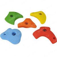 Зацепы для детского скалодрома, средние. Изготовлены из композитного материала. В комплекте 5 зацепов.