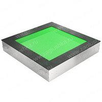 Батут квадратной формы с габаритами 1800x1800 мм для детских площадок. Габариты полотна 1200x1200 мм.