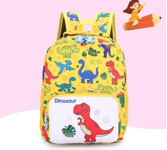 Рюкзак тканевый, с динозаврами, цвет желтый